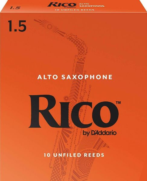 Rico 1.5 Strength Reeds for Alto Sax (Pack of 10) - RJA1015